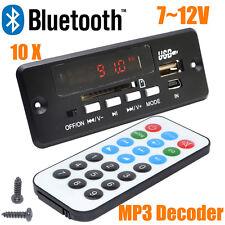 New 7~12V Car Handsfree Bluetooth MP3 Decode Board with Bluetooth Module+FM
