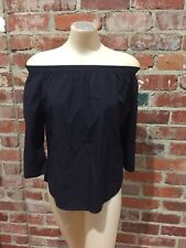 Uniqlo 3/4 Sleeve Off Shoulder Blouse - Bnwt - Size Small - Navy