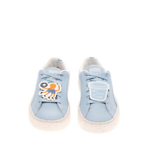 PUMA X TINY COTTONS SPECKLE Kids Leather Sneakers Size 20 UK 4 US 5 Octopus
