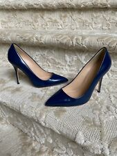 J Crew Roxy Heels Navy Leather Size 8