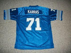 ALEX KARRAS Unsigned Custom Detroit Blue Sewn New Football Jersey Sizes S-3XL