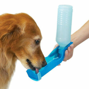 2 x 500 ml Portable Pet Dog Water Bottle Dog Bowl Drinking Outdoor Dispenser