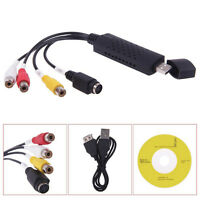 USB 2.0 Video Audio VHS to DVD Converter Capture Converter Card Adapter Black