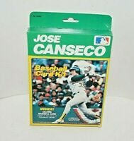 JOSE CANSECO Oakland A's 1989 Talking Baseball Card Kit New n Box 20 Set Album