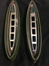 1961 1962 CHRYSLER Imperial Transmission Bezel Covers LH RH Green With Bezel