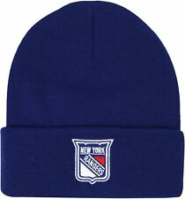 Mitchell & Ness New York Rangers Headline Beanie Hat - Blue