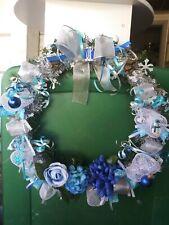 Christmas Wreath Hanging Ornament Decorated Xmas Door Wall Tree Garland handmade