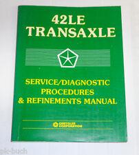 Manual de Taller Chrysler Caja Cambios Transaxle 42 Le Año Fabricación 1993-1998