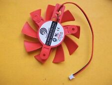 New 2Pin 75mm 47mm XFX HD7750 HD7770 Graphic Card Fan For PLA08015S12HH