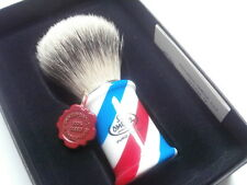 Omega Rasierpinsel Dachshaar 6735 Barber pole