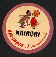 "OPC Vintage Air India International Nairobi Kenya 5 3/8"" Label MNH"