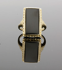 14CT YELLOW GOLD ONYX SIGNET RING
