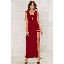 Nasty Gal Twilight Zone Cut-out Dress large wine new with tags ark & co
