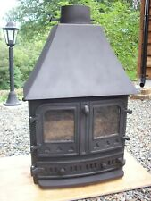 Villager 7kw Multi-Fuel Woodburning Stove with High Canopy