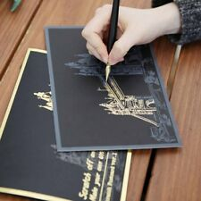 4x Magic Engraving Scratch Art Painting Paper Night View Fireworks Drawing Gift