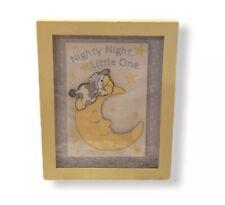 Whimsical Baby Yellow Moon Night Star Theme Frame Nursery Decor Wall Art Hanging