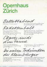 Original Vintage Poster Josef Muller Brockmann Ballettabend Ballet Dance Zurich