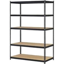 Garage And Basement Storage Unit Industrial 5 Shelf Metal Utility Shop Organizer