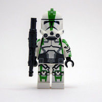 Lego Star Wars Custom Commander Deviss Green with Desert Tech Rifle & Backpack