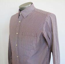 Banana Republic Men's M 15-15 1/2 L/S Purple Striped Button-Down Dress Shirt LNC