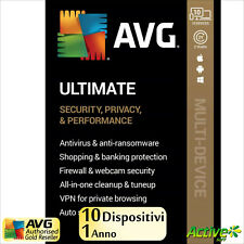 AVG ULTIMATE 2021 1 anno | PC, Mac, Android | TuneUp, Internet Security, VPN IT