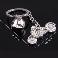 Creative Metal Silver Keychain Alloy Pendant Motorcycle Helmet Key Ring Gift