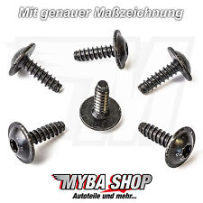 15x Universal Torx Mounting Screw Metal for VW and Audi n90775001