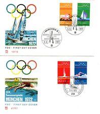 Alemania - 2 Múnich 1972 olímpico FDCs