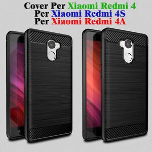 CUSTODIA COVER PER Xiaomi Redmi 4Pro e Per Redmi 4A Nero morbido TPU coperto