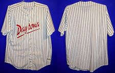 Daytona Cubs Minor League Baseball White Pinstripe Button-Down Size 52 Jersey