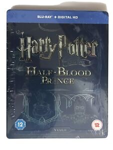 HARRY POTTER AND THE HALF BLOOD PRINCE UK BLU RAY STEELBOOK 2 DISC NEW SEALED