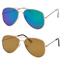Men Women Flat Frame Lens Aviator Sunglasses Pilot Classic Top Gun Mirror Lens