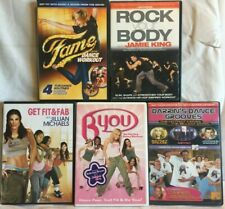 5 workout DVD lot for teens Fame Dance Girls Rock your body byou fitness
