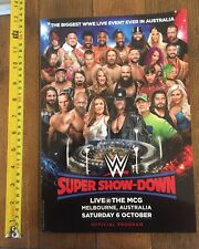 WWE SUPER SHOW-DOWN OFFICIAL PROGRAM MCG 6/10/18 MELBOURNE AUSTRALIA