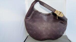 Gucci Monogram Leather Guccissima Horse Bit Hobo Bag Dark Purple 145764 002058