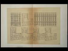 PARIS, 20 RUE LE PELETIER -1895-2 GRANDES LITHOGRAPHIES-NENOT, ASSURANCE LE NORD