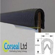 Standard black rubber car edge trim protection 14.5mm X 10mm FITS 1mm - 4mm