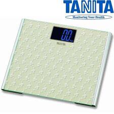 TANITA grande piattaforma in vetro digitale 200Kg 440lb Bagno Corpo Pesatura scala 397