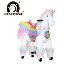 Medallion Walking Ride On Horse rocking Pony Small Rainbow Unicorn Age 3-6 Year