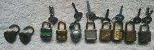 Lot of 10 Vintage miniature padlocks*germany*japan*usa