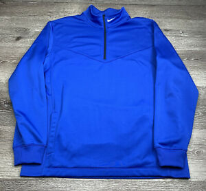 Nike Golf Tour Performance 1/4 Zip Pullover Sweater Royal Blue Size L Large