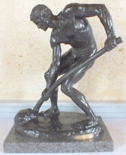 """le terrassier"" bronze homme Alfred Boucher Barbedienne"