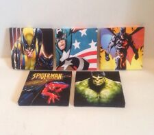 ( Batch 2 ) 5 X MARVEL + DC SUPERHERO PICTURES On Canvas