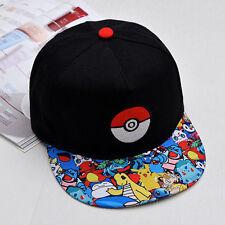 Pokemon Go Pikachu Baseball Dancing Hip Hop Hat Cap Snapback Men Women KidS Hat