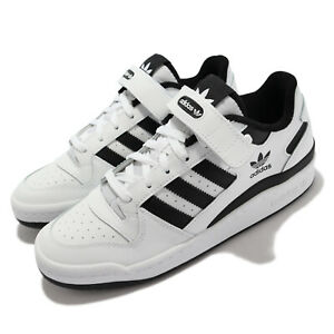 adidas Originals Forum Low White Black Strap Men Unisex Casual Shoes FY7757