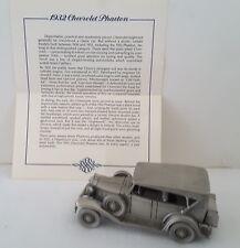 Vntg Danbury Mint 1932 Chevrolet Phaeton Pewter Cars of the World W/Certificate