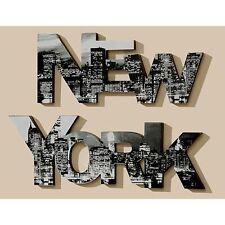 """Wand Objekt Bild """"New York"""" - 2 teilig - Wandbild, Schriftzug"""