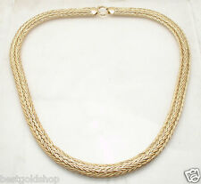 """20"""" 23gr Flat Wheat Spiga Woven Chain Necklace Real 14K Yellow Gold QVC"""