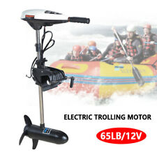 65LBS Heavy Duty Electric Trolling Motor Engine 12V For Outboard Marine Boat US