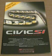 2002 Honda Civic Si Prototype Press Kit